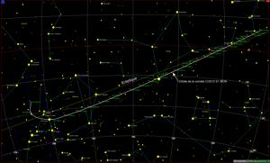 Trajectoire de la comètes en Novembre 2013