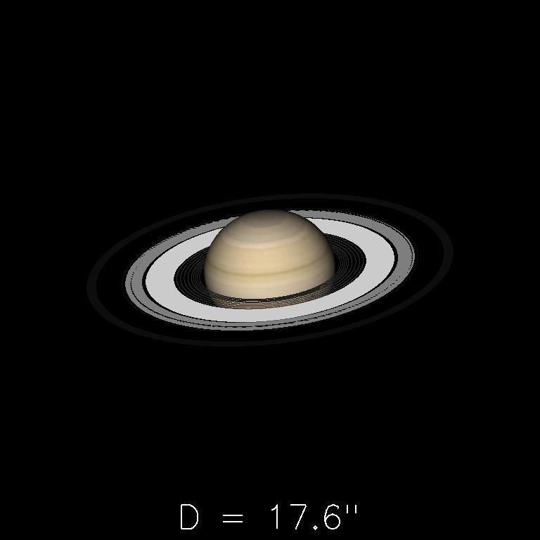 Saturne le 16 mai 2019