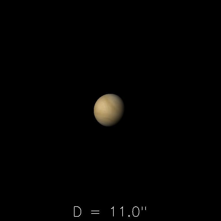 Vénus le 16 mai 2019