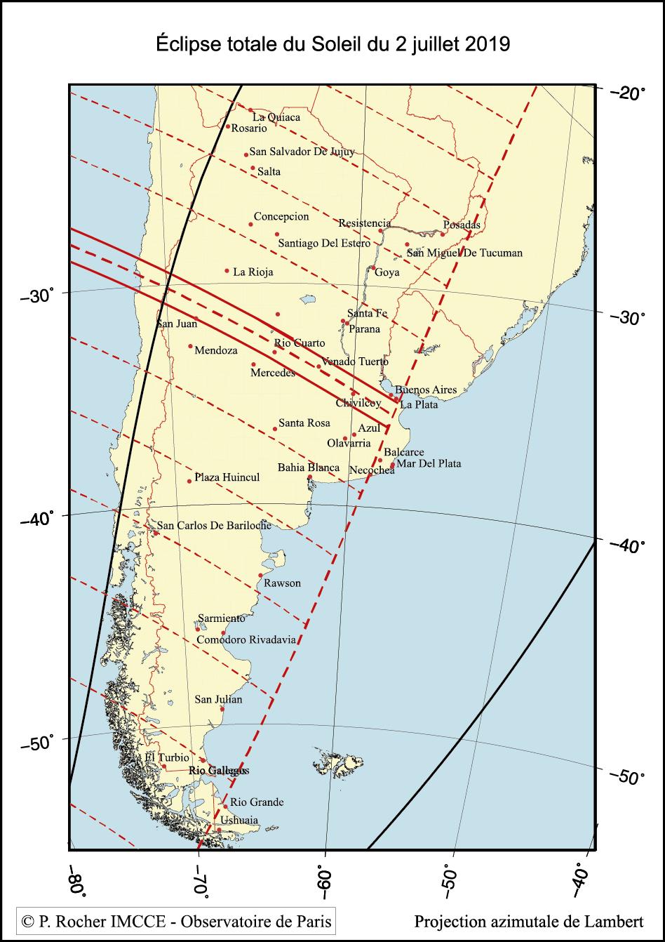 Carte locale sur l'Amérique du Sud