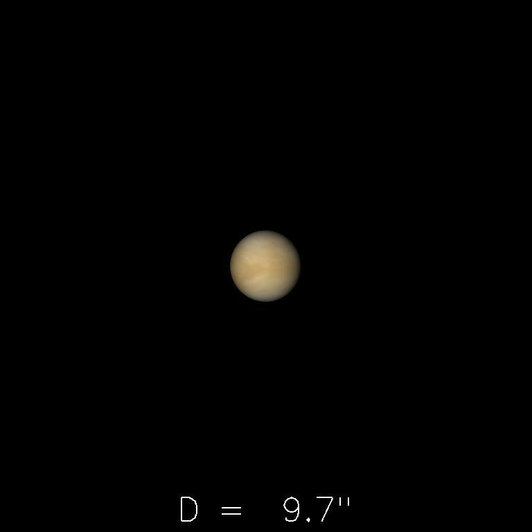 Vénus le 16 juillet 2019