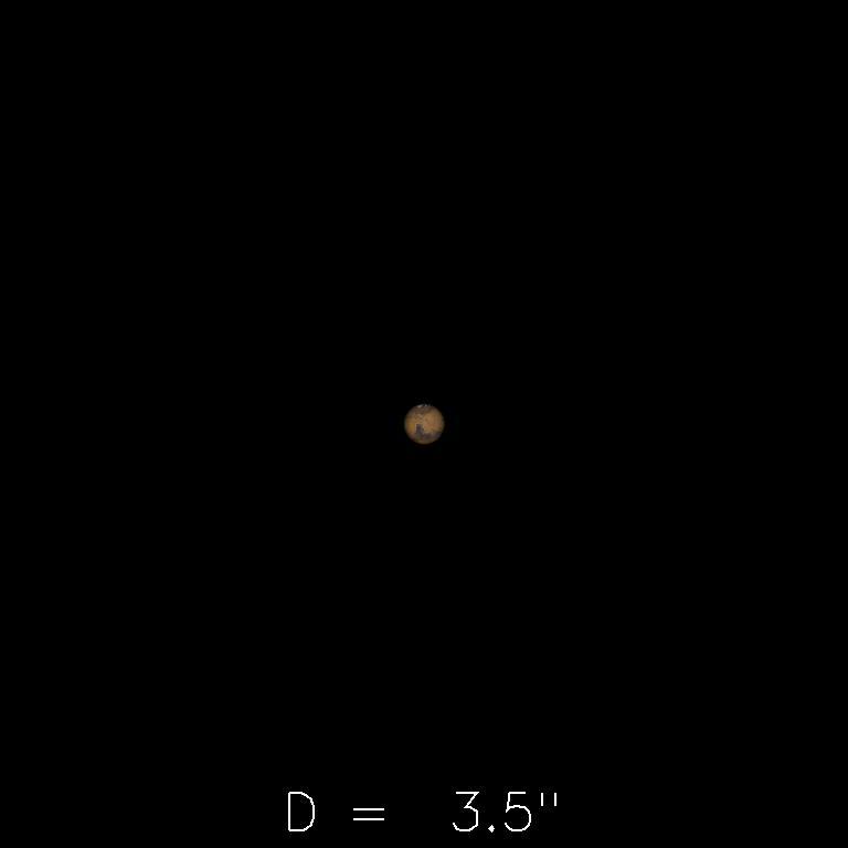 Mars le 16 août 2019