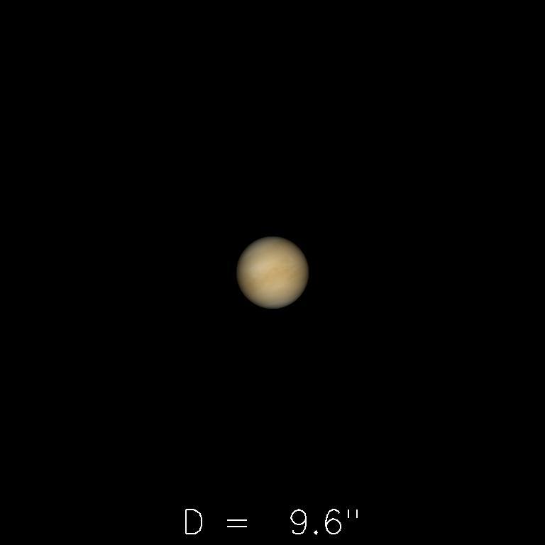 Vénus le 16 août 2019