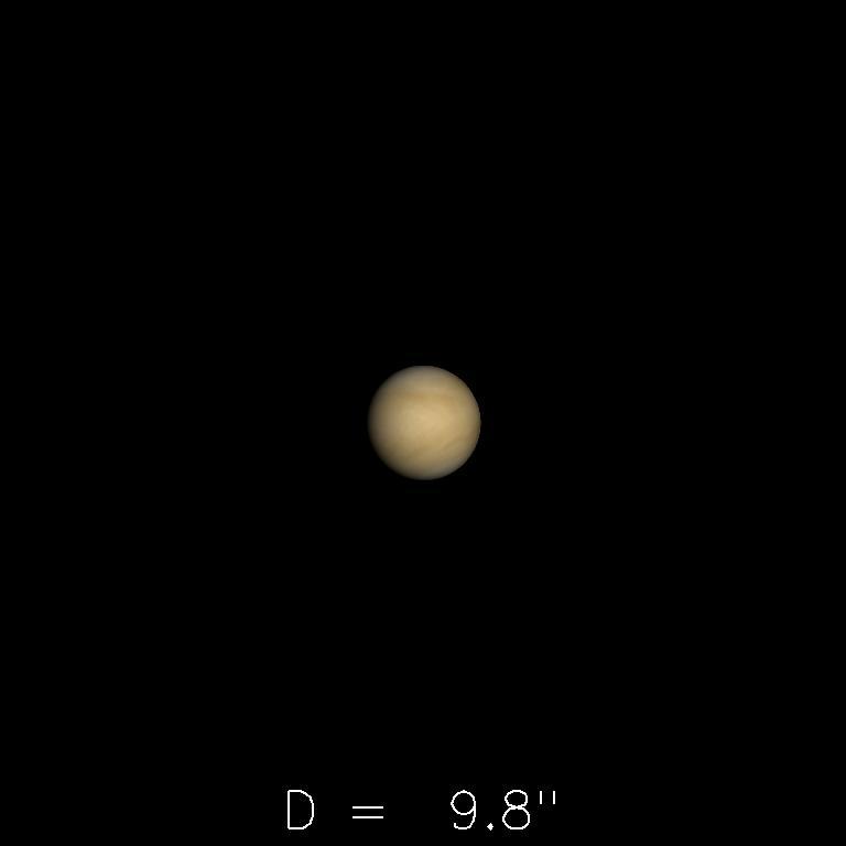 Vénus le 16 septembre 2019