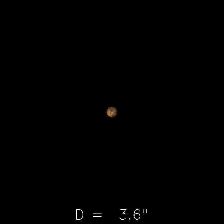 Mars le 16octobre 2019