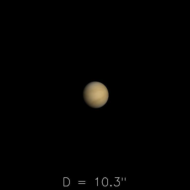 Vénus le 16octobre 2019