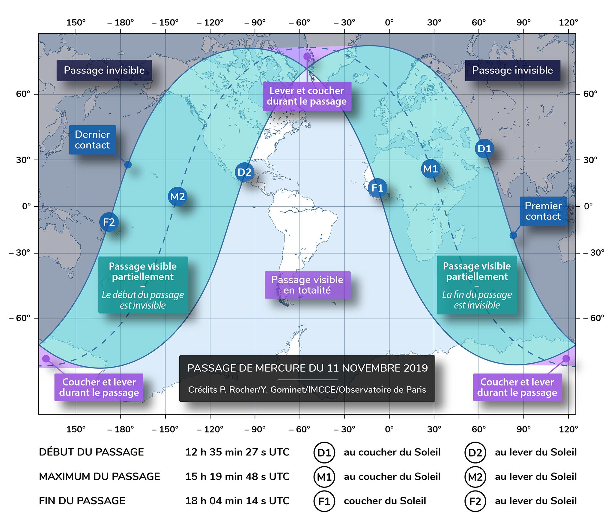 Carte de visibilité du passage du 11 novembre 2019