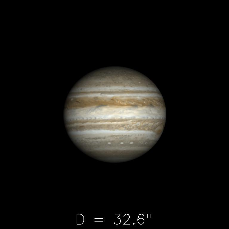 Jupiter le 16 novembre 2019