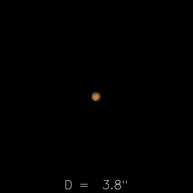 Mars le 16 novembre 2019