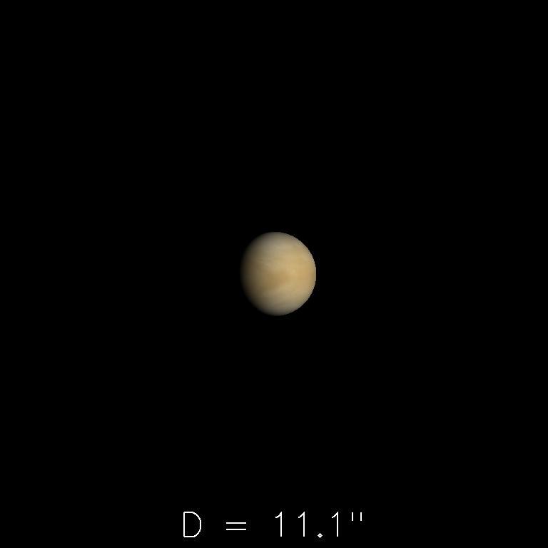 Vénus le 16 novembre 2019