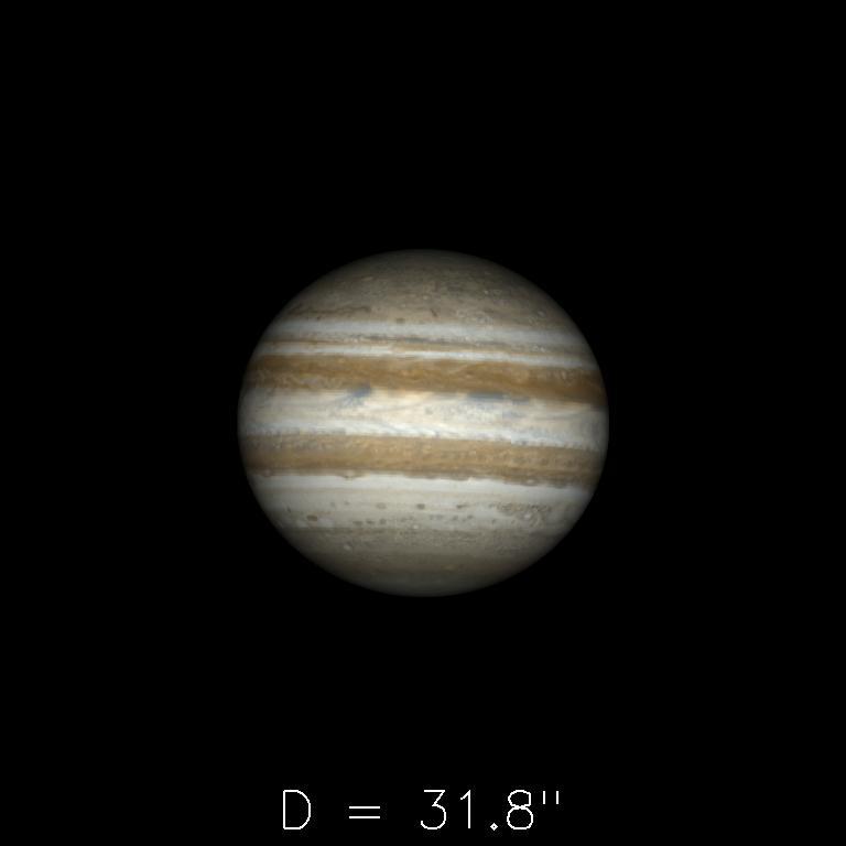 Jupiter le 16 décembre 2019
