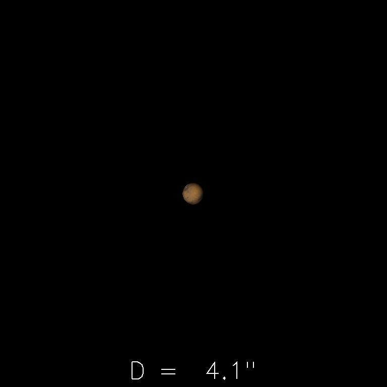 Mars le 16 décembre 2019