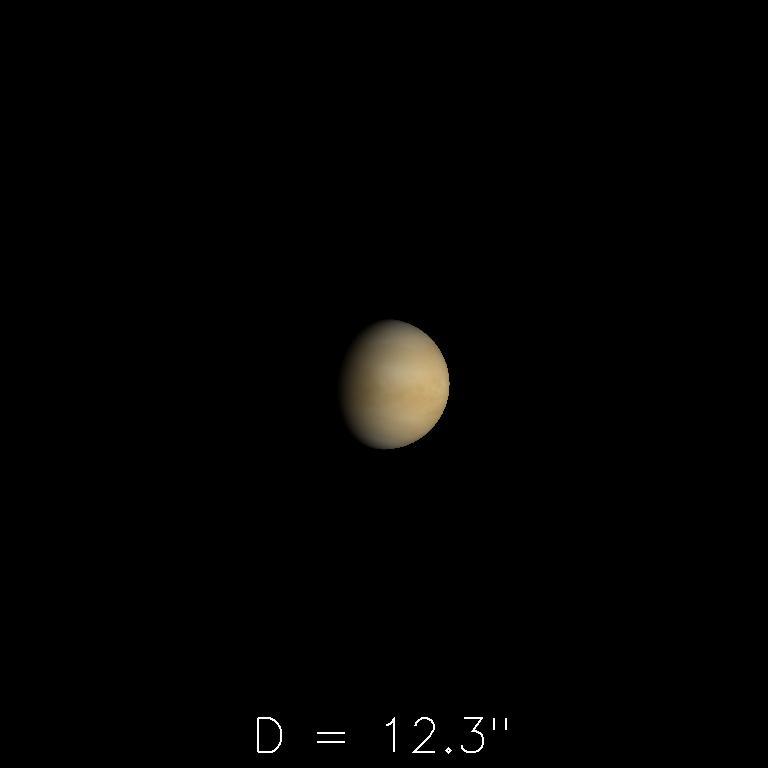 Vénus le 16 décembre 2019