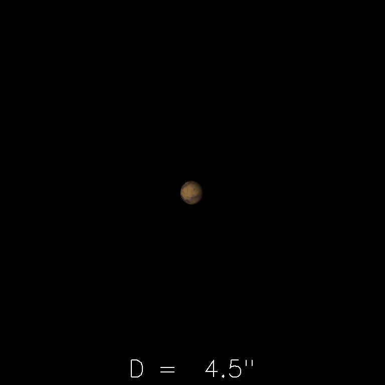 Mars le 16 janvier 2020