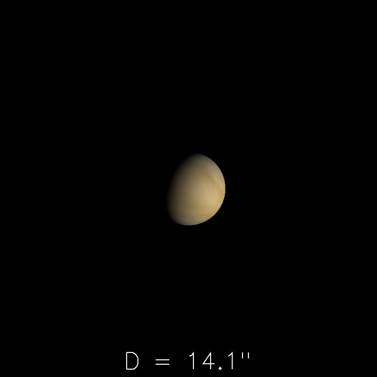 Vénus le 16 janvier 2020