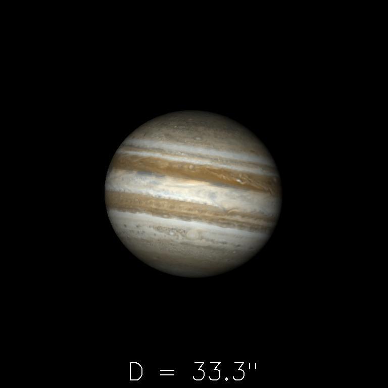 Jupiter le 16 février 2020