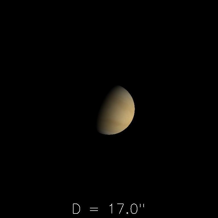 Vénus le 16 février 2020