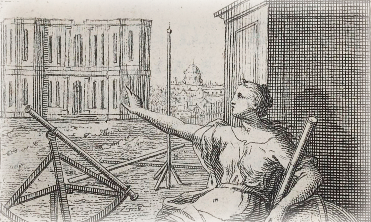 Frontispice de la Connaissance des temps pour l'année 1731