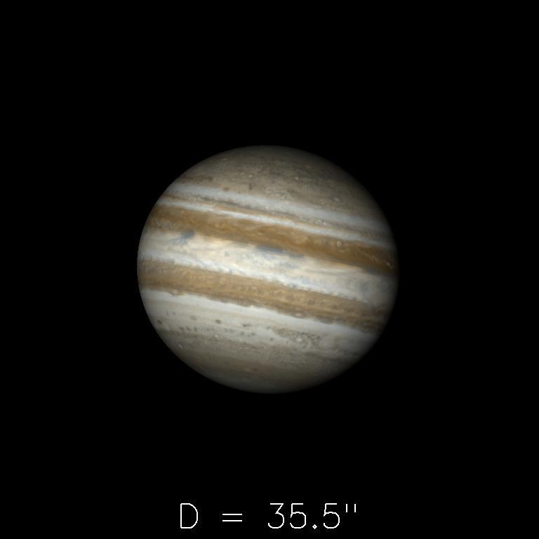 Jupiter le 16 mars 2020