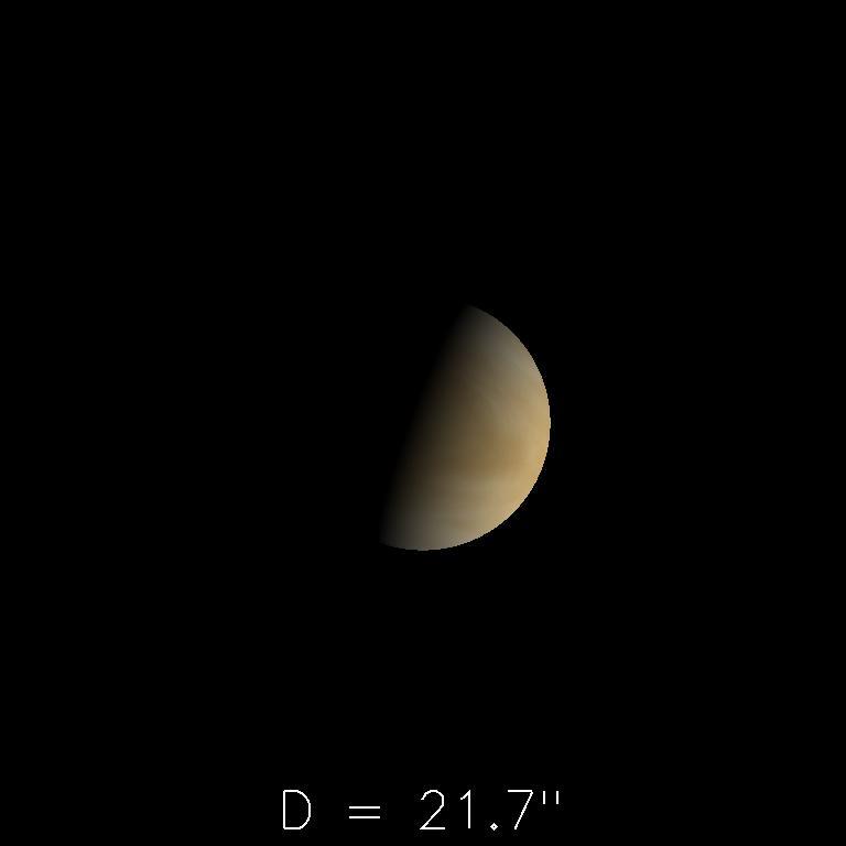 Vénus le 16 mars 2020