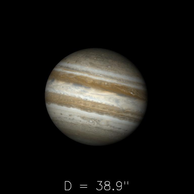 Jupiter le 16 avril 2020