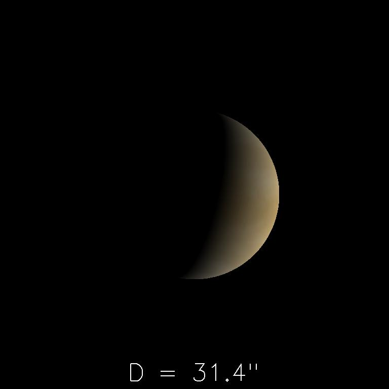 Vénus le 16 avril 2020