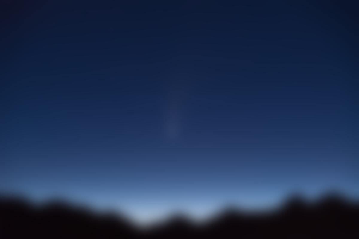 NEOWISE le 12juillet 2020 à l'aube en Tarentaise