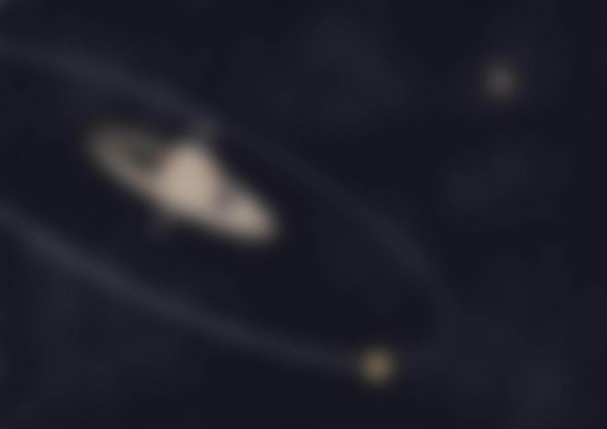 Vue d'artiste illustrant la migration de Titan et la bascule de Saturne